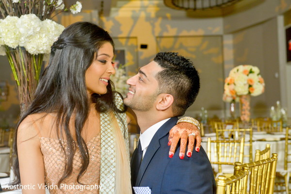 indian bride,indian groom,indian fusion wedding reception