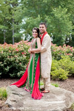 outdoor photography,indian bride and groom,indian bridal fashions