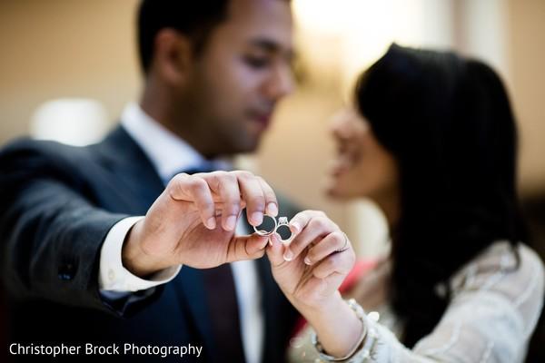 Indian Couple Holding Wedding Rings Photography Photo 107038