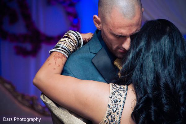 Romantic indian wedding portrait.