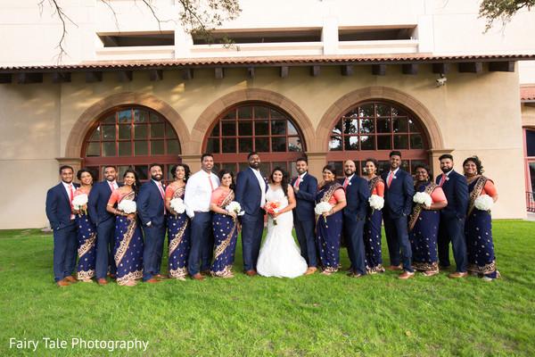 indian bridal party,indian bridesmaids,indian groomsmen