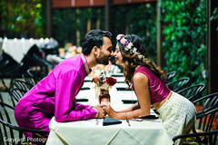 Sweet indian couple during  pre wedding celebrations