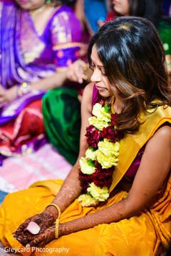 indian bridal mehndi,indian bride,garland