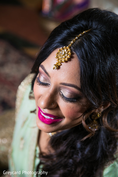 Bridal hair and makeup ideas in Newport Beach, CA Indian Wedding by Greycard Photography