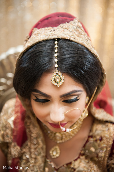 Pakistani bridal portrait.