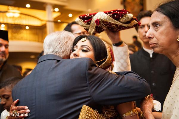 Bride's heartfelt moment.