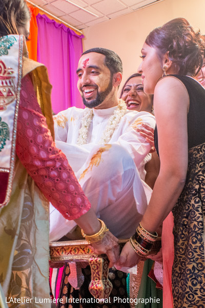 Indian groom haldi.