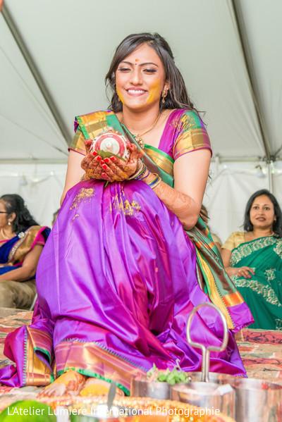 Indian bride's haldi.