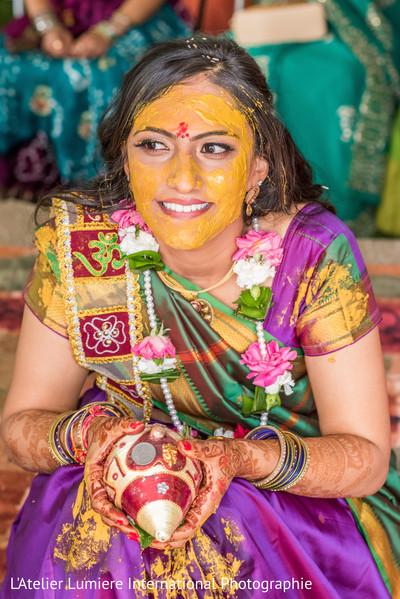 Bride's haldi ceremony.