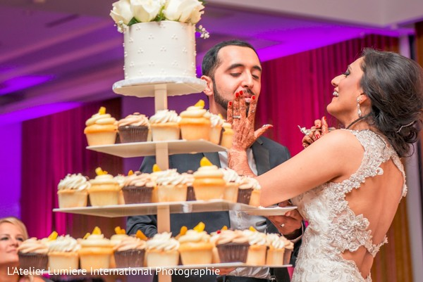Tasting the wedding cake
