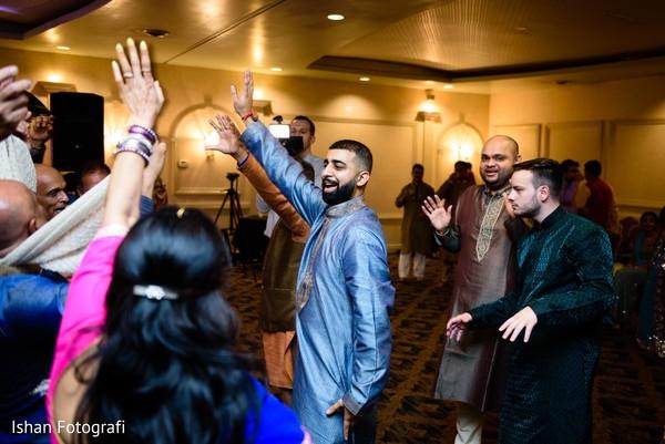 Groom having fun during pre wedding celebrations