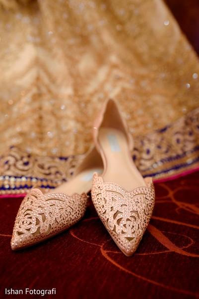 Enchanting bridal shoes.