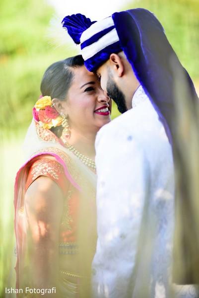 Intimate indian wedding photo shoot.