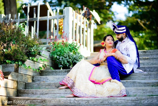 Dreamy indian bride and groom photo session.