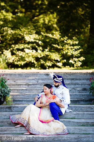 Cute indian bride and groom photography.
