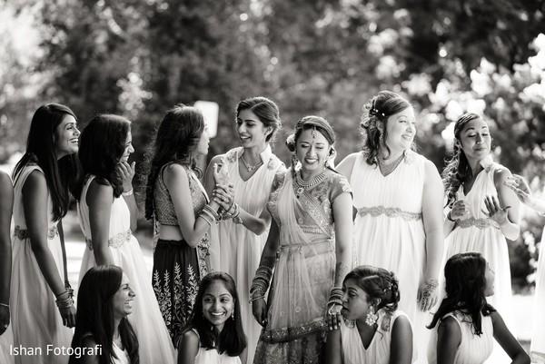 Sweet bridal party shot.