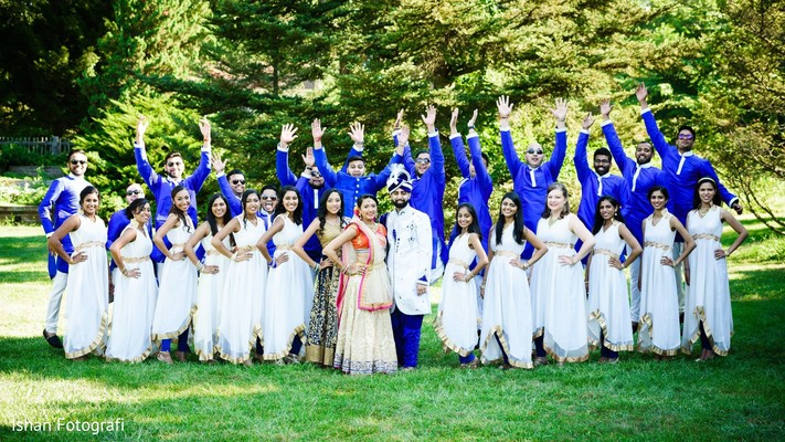 Showstopping wedding party photography.