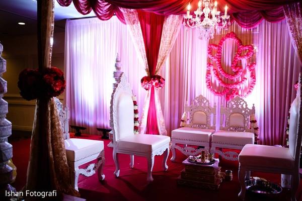 Luxurious indian wedding mandap.