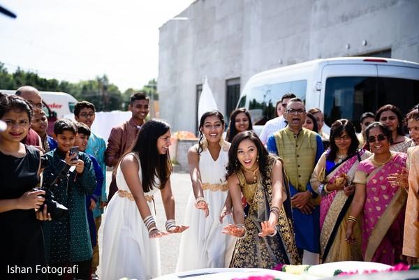 Beautiful indian bridesmaids.