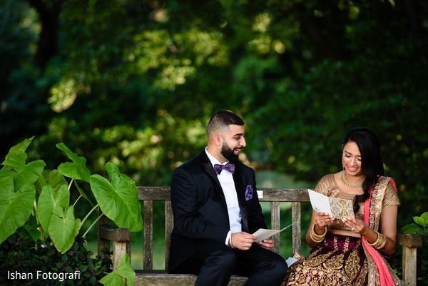 Intimate indian bride and groom capture.