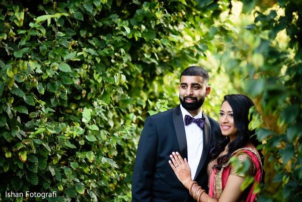 Garden themed indian wedding photo shoot.