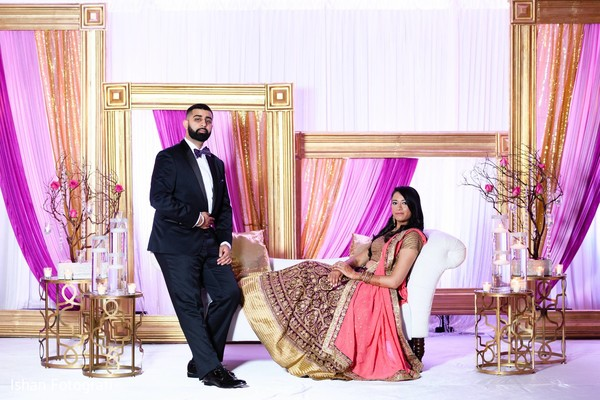 Maharani and Maharaja reception portrait.