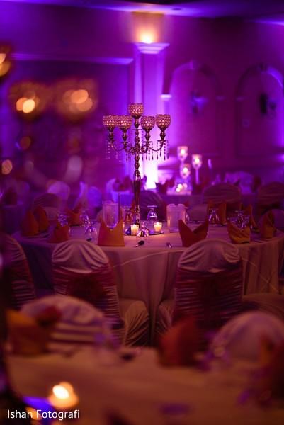 Indian wedding reception decor.