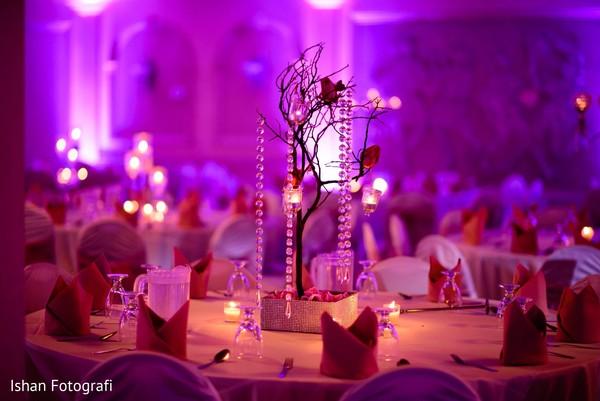 Eleborate wedding table centerpiece.