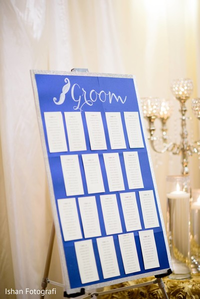 Groom's guest table plan.