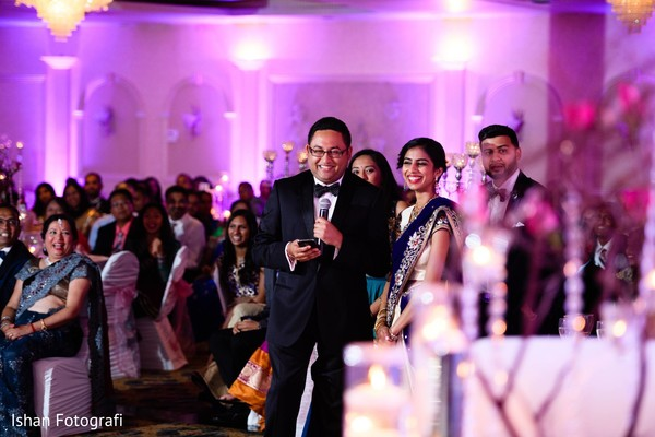 Indian wedding speech capture.