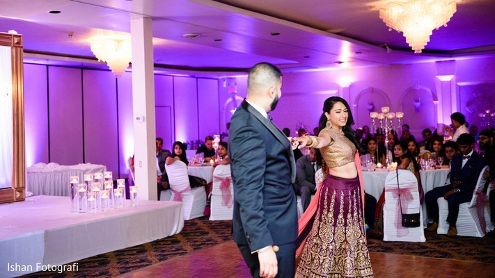 Lovely bride and groom first dance.