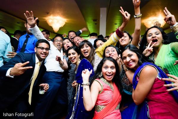 Vibrant indian wedding reception photography.