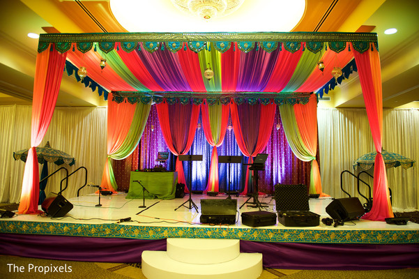 Sangeet stage in Rockwall, TX Indian Wedding by The Propixels