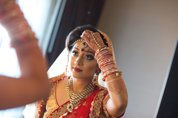 Maharani ready to get married in Rockwall, TX Indian Wedding by The Propixels