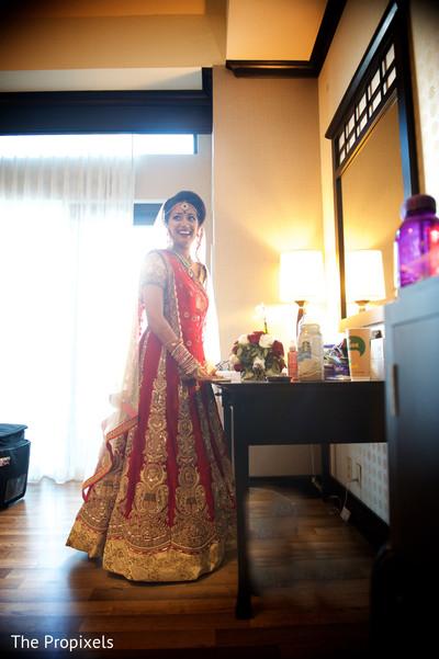 Beautiful bride in her lengha