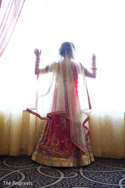 Lovely bridal lengha in Rockwall, TX Indian Wedding by The Propixels