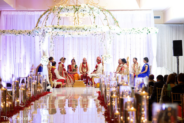 Gorgeous wedding mandap in Rockwall, TX Indian Wedding by The Propixels