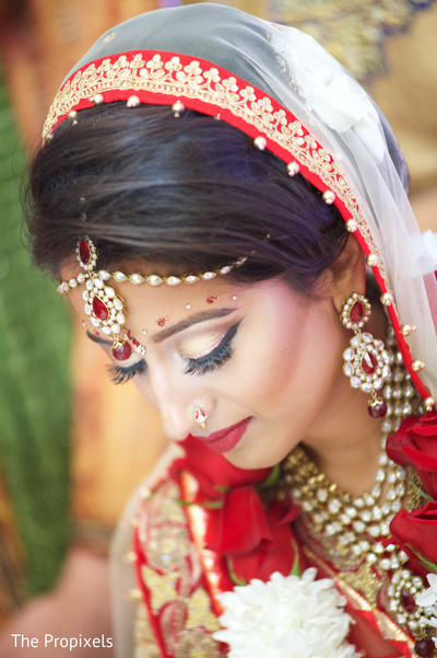 Amazing bridal jewelry set in Rockwall, TX Indian Wedding by The Propixels