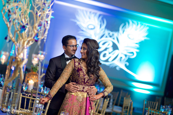 Lovely couple at their reception in Rockwall, TX Indian Wedding by The Propixels