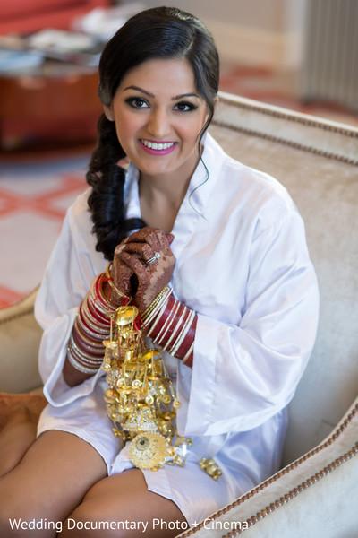 Indian bride photoshoot before wedding ceremony