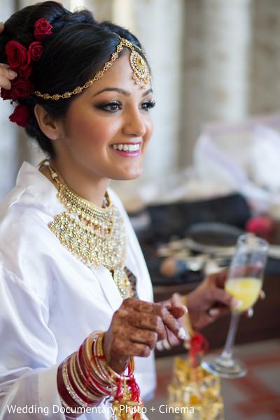 Lovely indian bride photoshoot before wedding ceremony