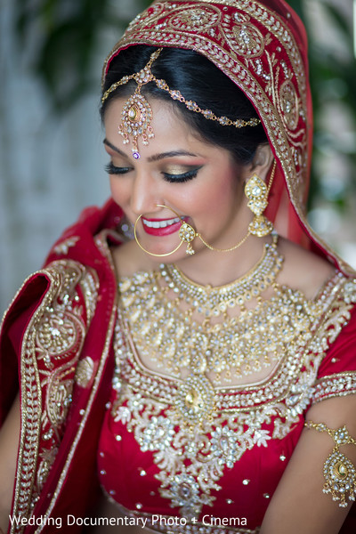 Lovely indian bride ready for wedding ceremony