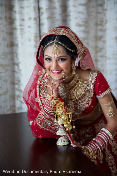 Indian bride ready for wedding ceremony