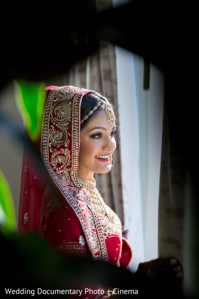 Indian bride outdoor photography before wedding ceremony