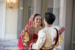 first look photography,bride bangles,indian wedding outfits
