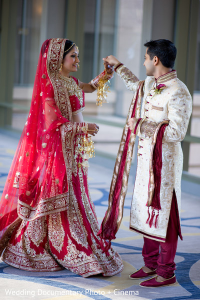 Beautiful indian couple photography before wedding ceremony