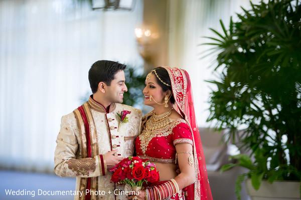 Indian couple photography before wedding ceremony