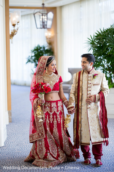 Lovely indian couple photography before wedding ceremony