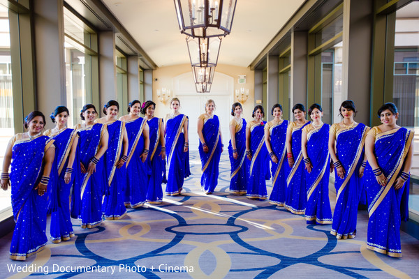 Indian bridesmaids photography before wedding ceremony