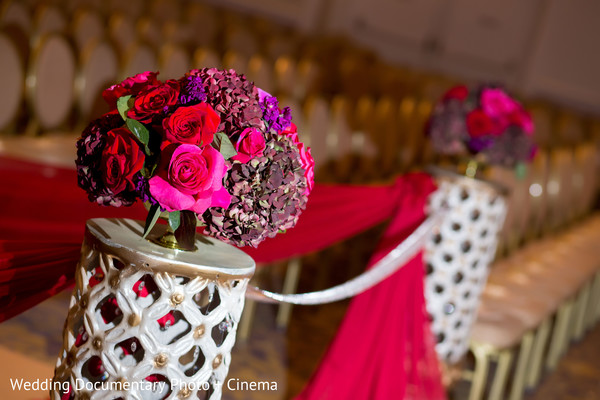 Indian wedding ceremony floral and decor